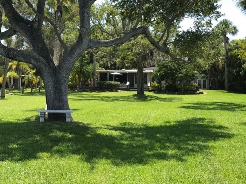 Peaceful Waterfront Home in Sebastian FL with Boathouse & Dock - Family Fun!, vacation rental in Sebastian