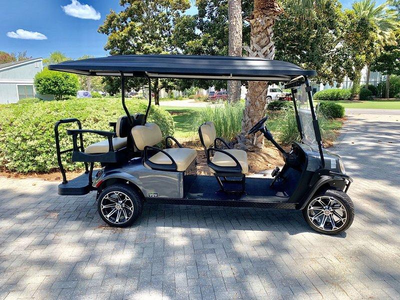 Voiturette de golf à six personnes