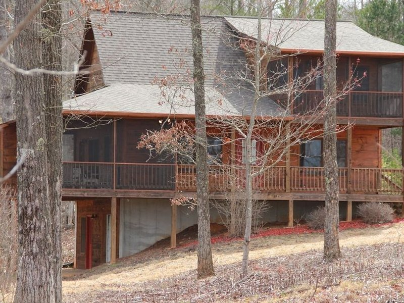 Beautiful Custom Cabin on almost 2 acres with lots of privacy, vacation rental in Epworth