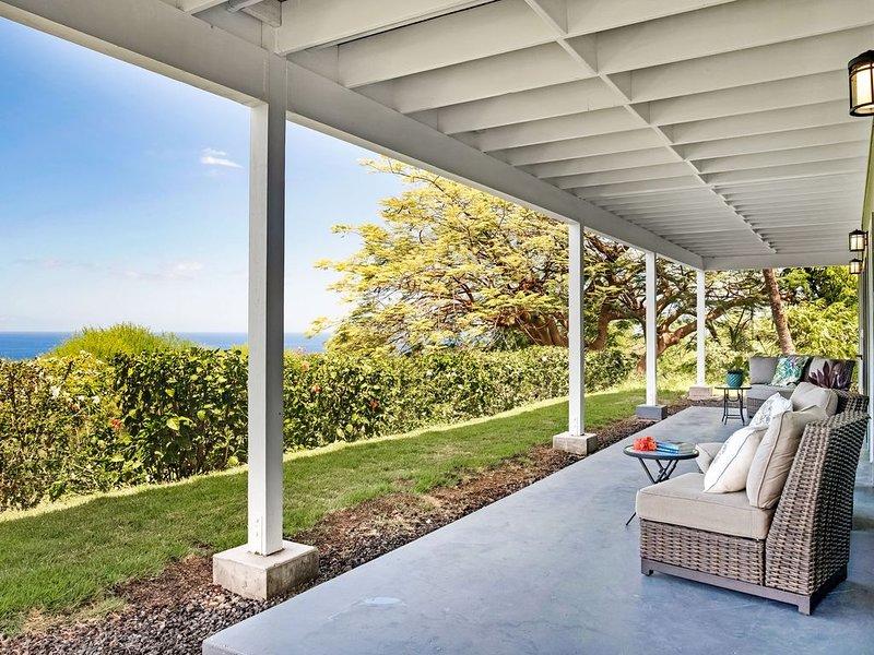 Guest Suite with Kitchen, Ocean Views- 5 min Drive to Beach, aluguéis de temporada em Holualoa
