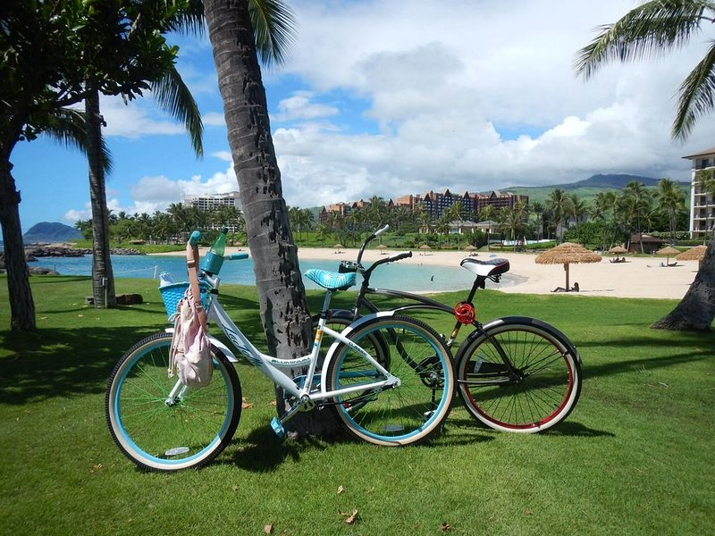Beautiful Koolina ground floor Villa Bikes, Beach Gear, close walk to beach!, location de vacances à Waipahu