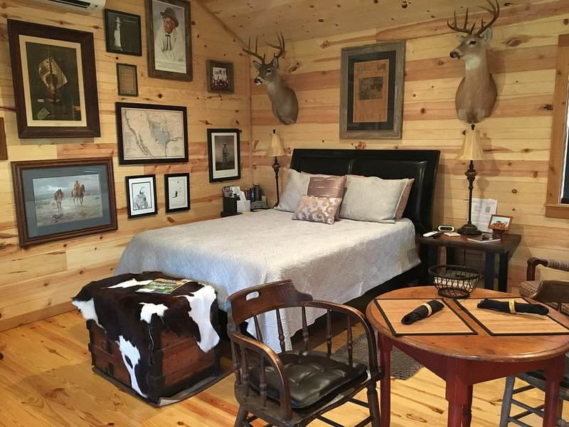 New Life Farms-The Writer's Cabin, holiday rental in Hye