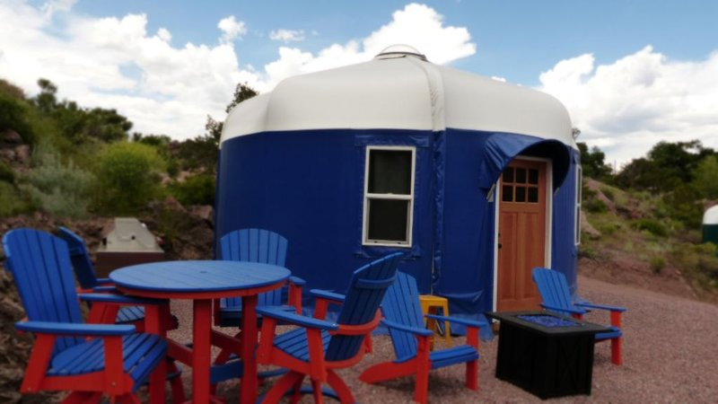 Beach Front Yurts 'Blue Heron' | Royal Gorge Rafting Adventure Beach Outpost, vacation rental in Canon City