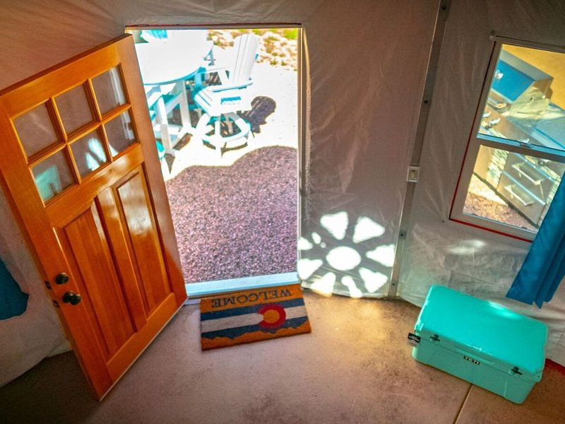 Beach Front Yurts - 'Sunshine' | Royal Gorge Rafting Adventure Beach Outpost, vacation rental in Canon City
