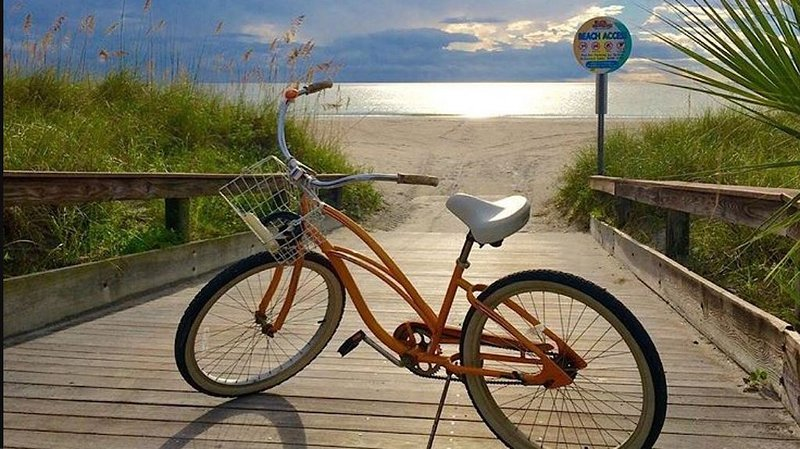 A bicycle comes with your rental