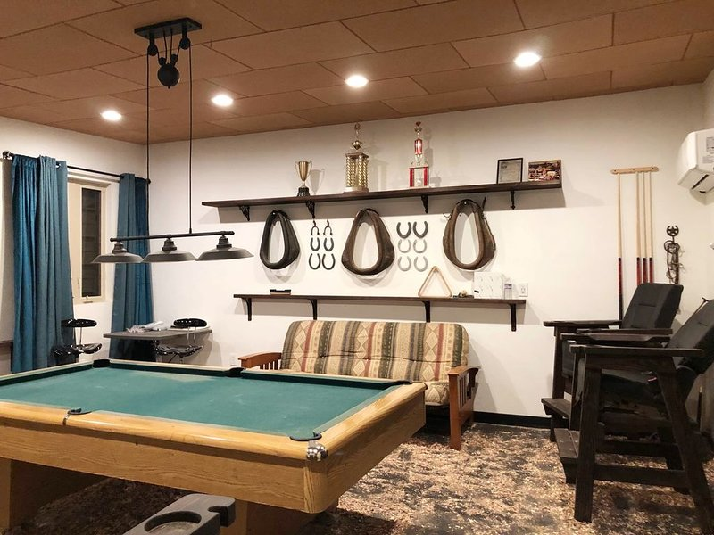 Relax and have fun here in the bonus room