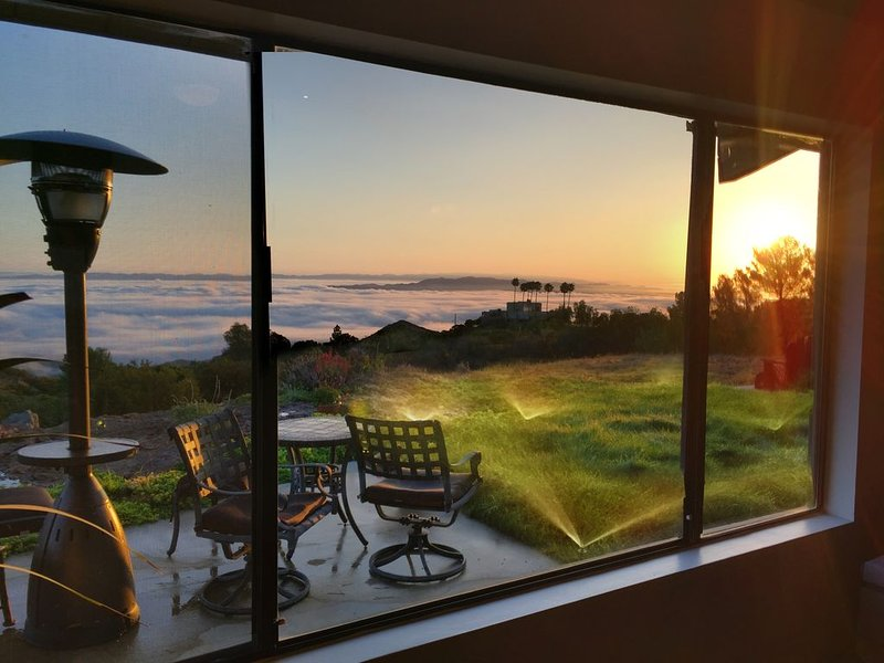 view out the living room above the cloud line