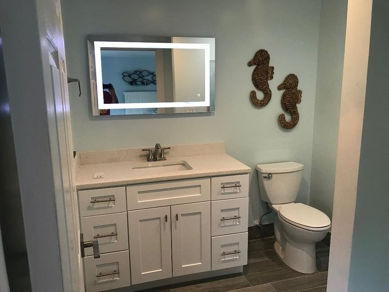 privacy powder room of bedroom