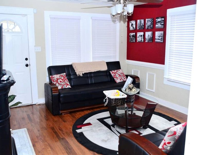 Bright and comfortable living room with modern décor.