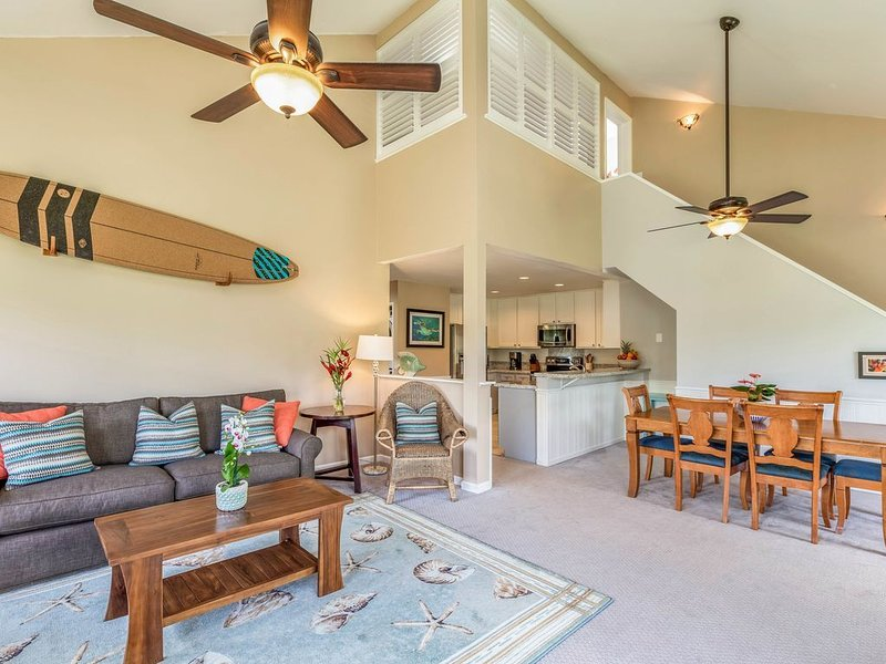 Incredible 3BR/3BA Penthouse: Central A/C! 5 Minute Walk To Beach!, vacation rental in Koloa