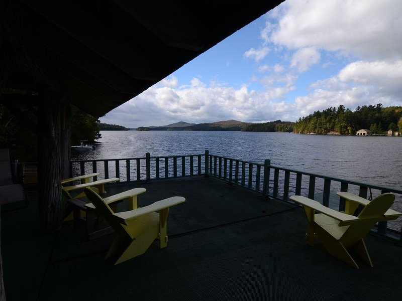 Adirondack Great Camp on Lower Lake, holiday rental in Bloomingdale