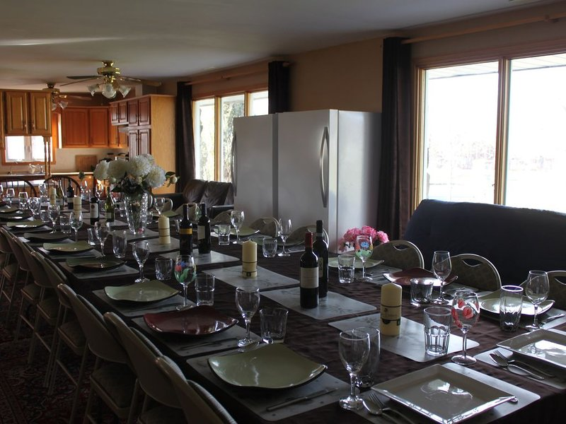 Dining Table seats 24+