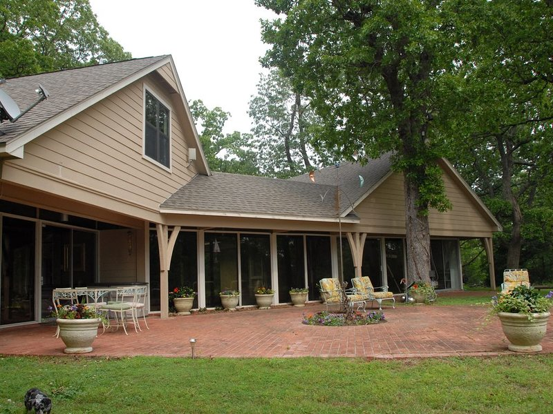 View of back patio - Main House