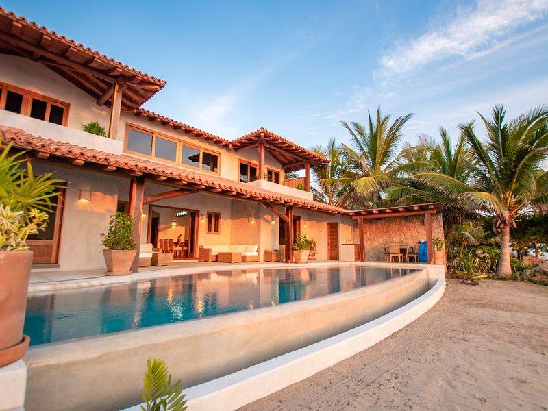 La Nueva a New, Custom Built, Luxury Villa on the Beach!, holiday rental in Troncones