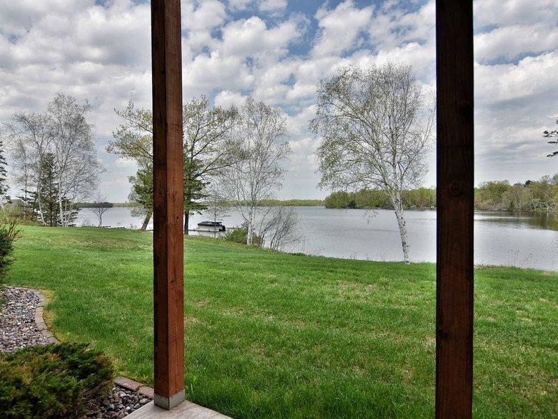 Salir del patio al lago!