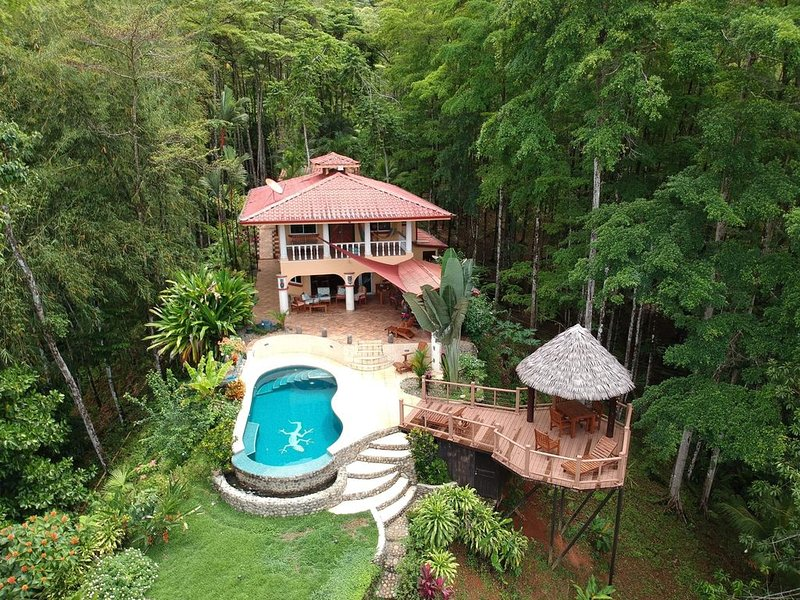 Casa Amistad Ocean View home with tropical forest, vacation rental in Uvita