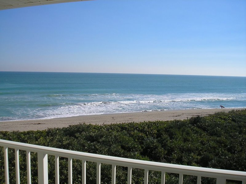 Sunrise from our oceanfront balcony!  January 2021 now available!, holiday rental in Stuart