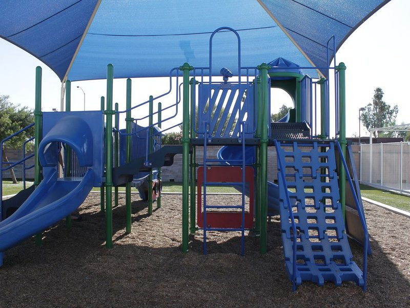Playground at the recreation center.