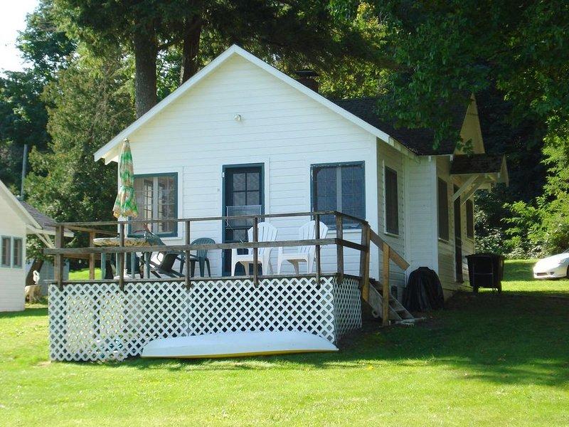 Vista posterior de almeja Cottage