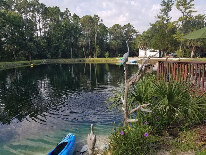 The Lake and Tree house at the Lake Retreat of Steinhatchee-  Only the best!!, holiday rental in Salem