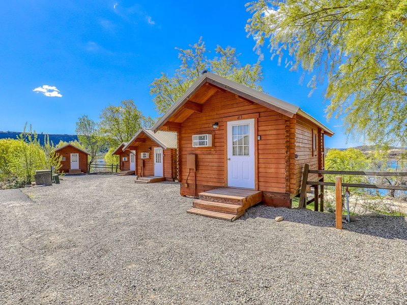Basic, dog-friendly cabin w/ stunning lake views plus shared dock & restrooms, location de vacances à Electric City