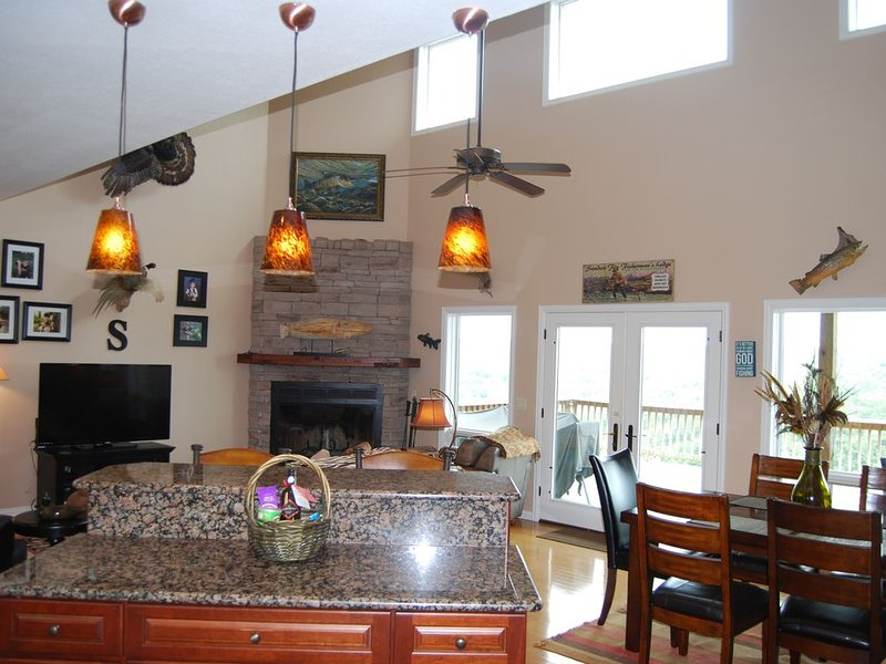 Great room from kitchen!