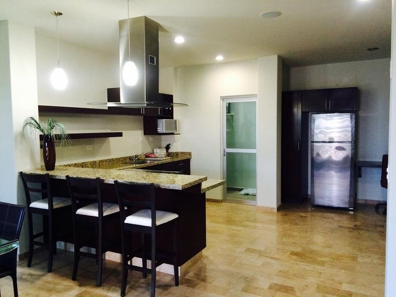 Full furnished house ,2 bedroom, 2 1/2 bath. Ocean view roof terrace. Garage., holiday rental in El Sargento