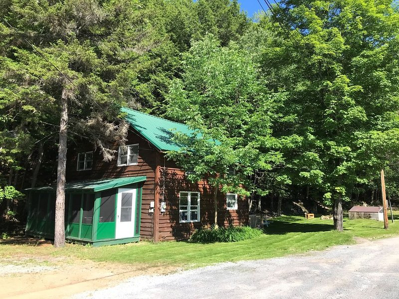 Quiet Adirondack camp in Inlet steps to  ADK Beach, Lakes, Trails and Activities, casa vacanza a Eagle Bay