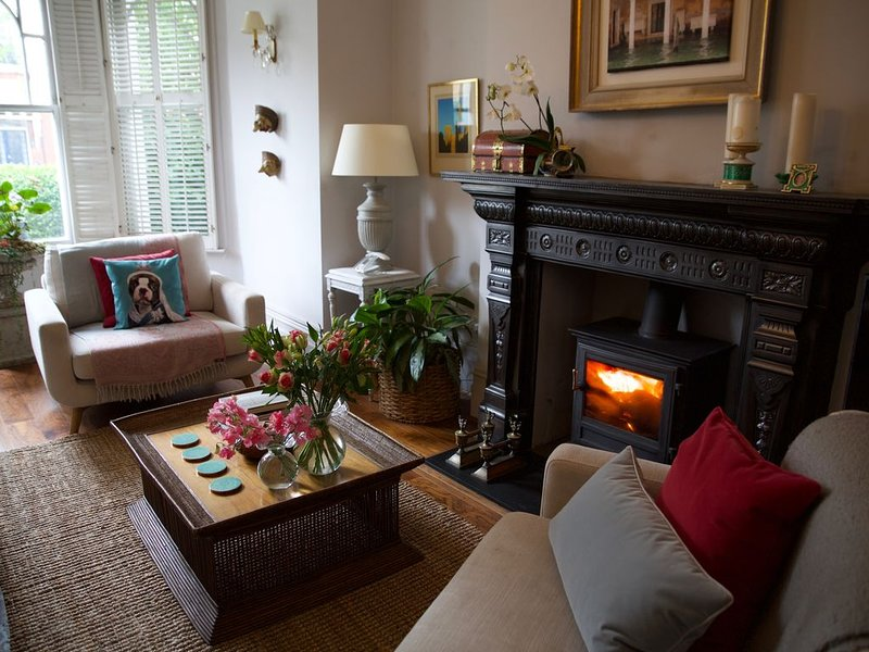 Sunny Edwardian garden flat with large summer house in leafy north london, holiday rental in Wood Green