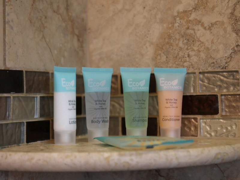Complementary Lotion, Body Wash, Shampoo, Conditioner and Cleansing Soap