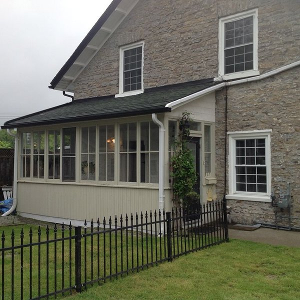 the side porch perfect for coffee or drinks