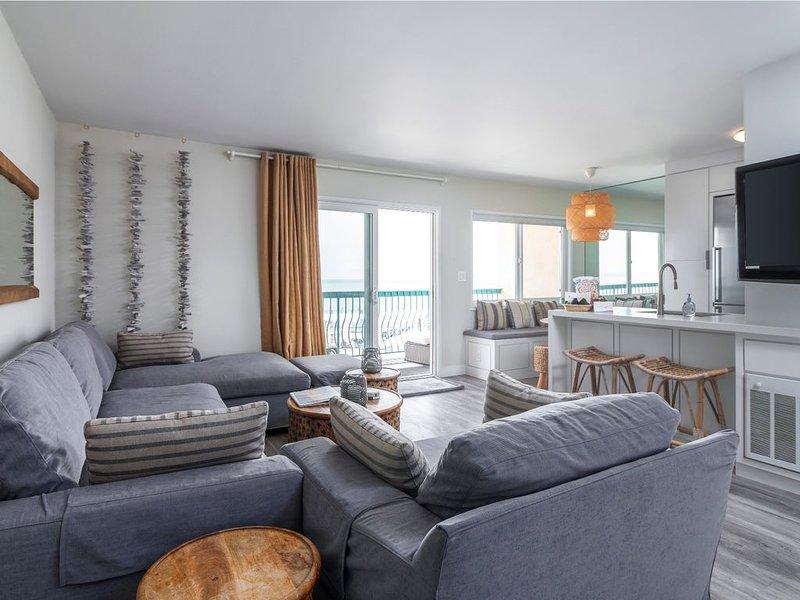 Sanitized Carp Shores 312 Five O'Clock Somewhere 2 BR Oceanfront Modern Condo, vacation rental in Carpinteria