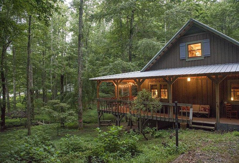 The Cabin at Little Moon Falls - Saluda, NC, holiday rental in Saluda