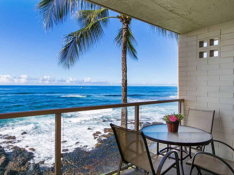 Magnificant Ocean Front Condo with New Air Conditioning and Panoramic Views, vacation rental in Kalaheo