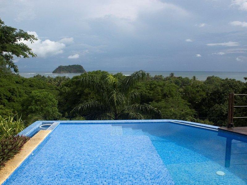 Your own private saltwater pool on the 3rd floor!!  Fantastic huge ocean view.