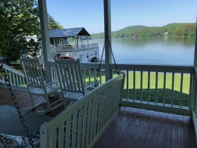 superbe vue sur le lac depuis le porche