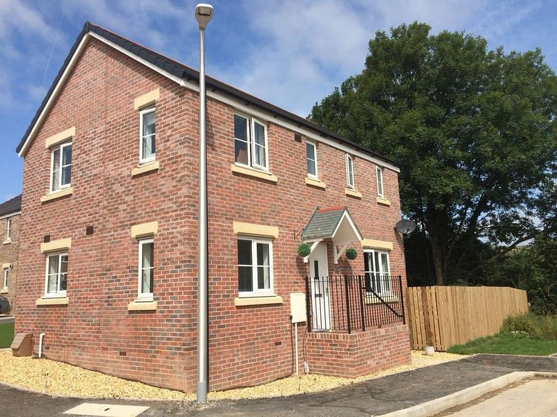 Modern House with Garden & Parking near Carmarthen, aluguéis de temporada em Cwmffrwd