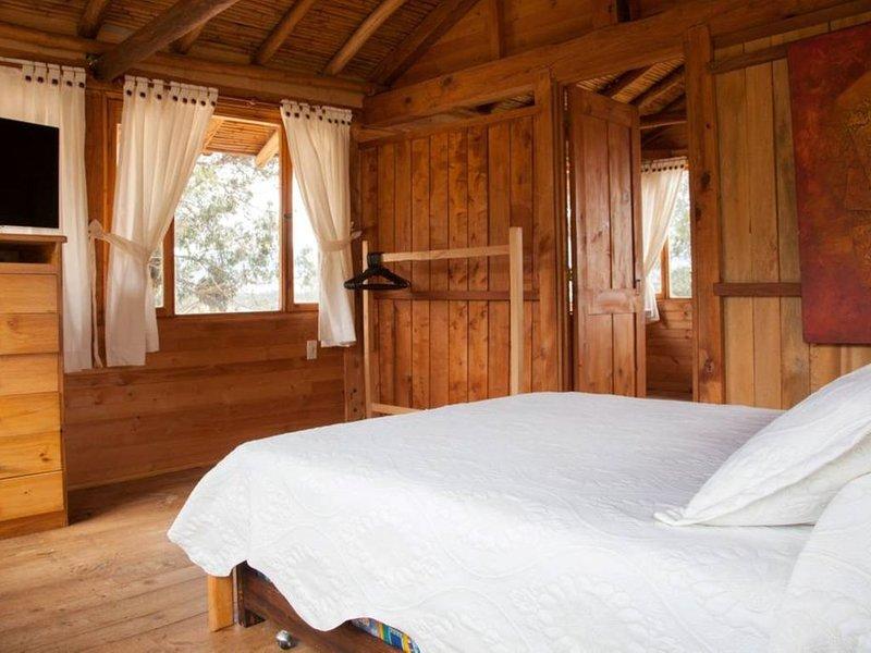 Cabaña de madera Ojo de Agua, holiday rental in Villa de Leyva