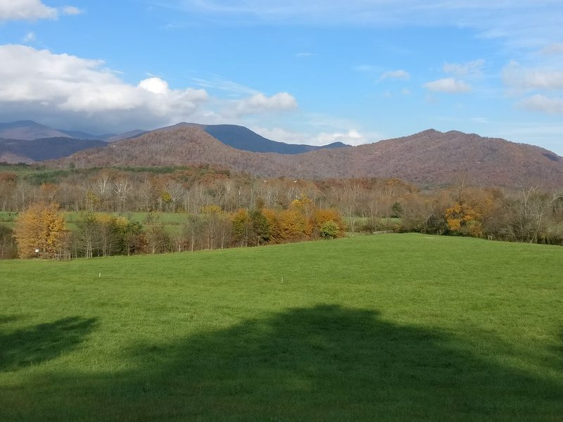 Swannanoa River Valley about a half of mile from our house