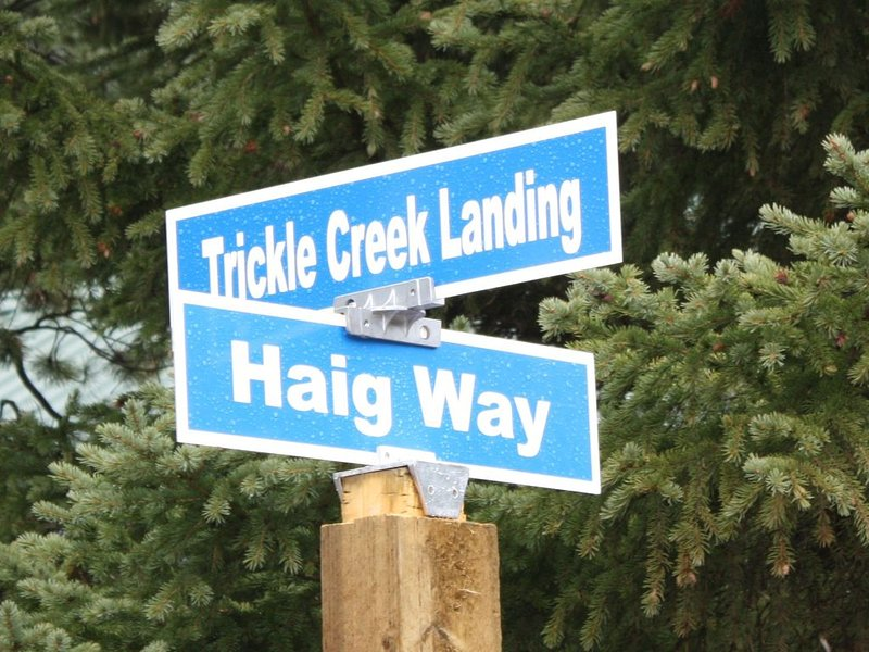 We are lot # 48 Trickle Creek Landing