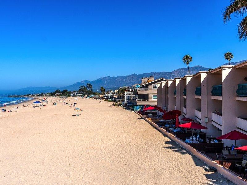 Sanitized Carp Shores 105 A Shore Thing 2 BR Ground Floor Oceanfront Condo, vacation rental in Carpinteria