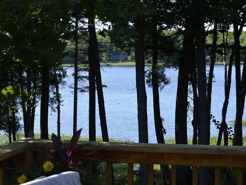 Vue du lac depuis le pont