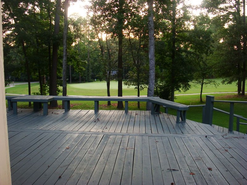 Deck and golf course views