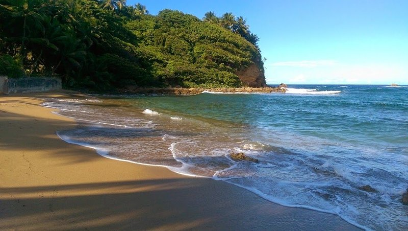 I närheten avskild offentlig strand