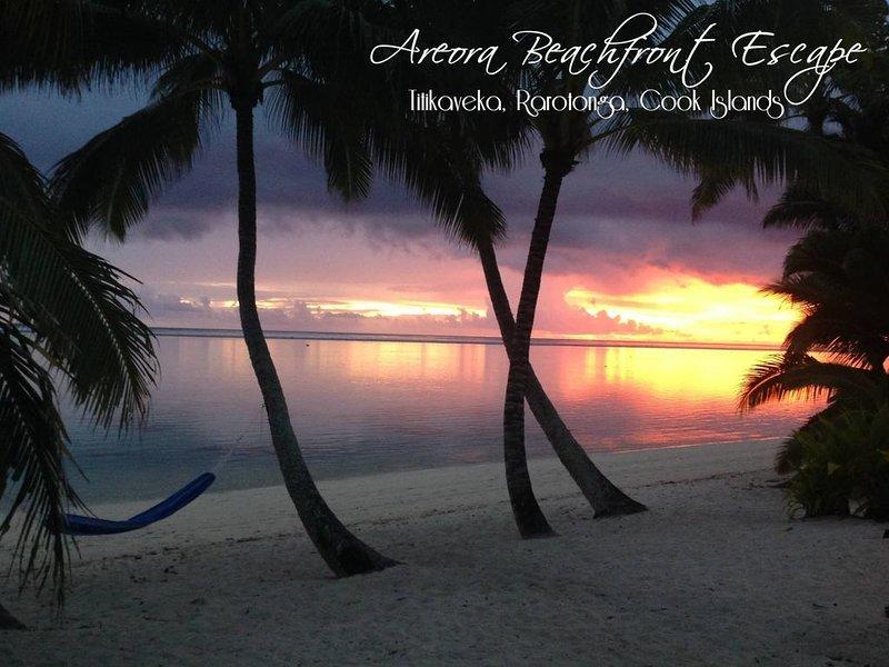 Nestled on the white sandy beach and crystal blue lagoon of Rarotonga, casa vacanza a Aroa Beach
