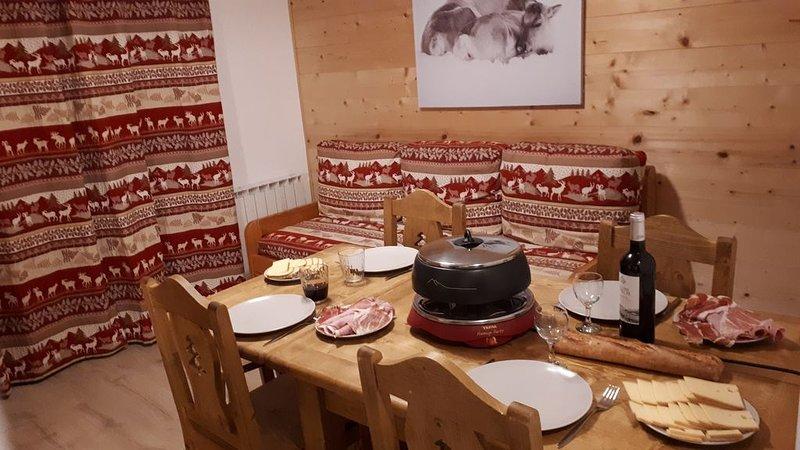 Appartement chaleureux, pied des pistes, 4/5 personnes Val Thorens, aluguéis de temporada em Val Thorens