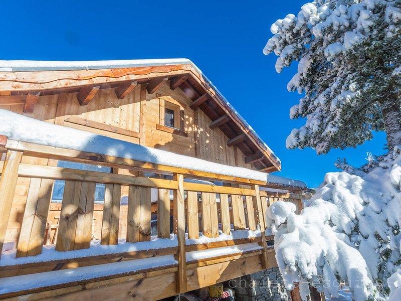 Magnifique chalet vue panoramique proche des pistes, casa vacanza a Bolquere