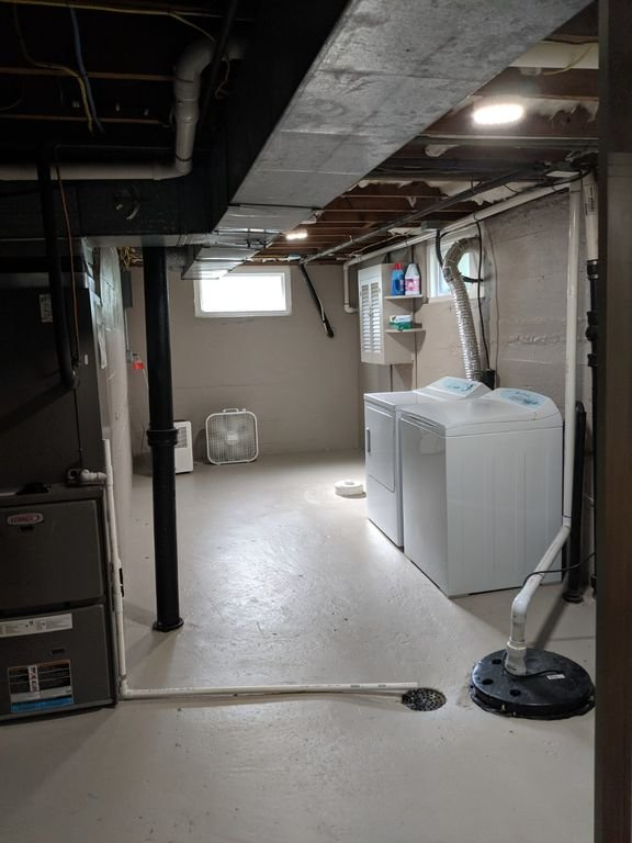 Added sleeping Space is shared with Basement Laundry room. Heat & Cool inside.