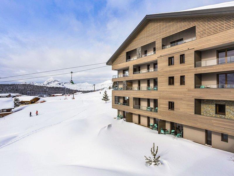Modern apartment in authentic ski village les Saisies, location de vacances à Hauteluce