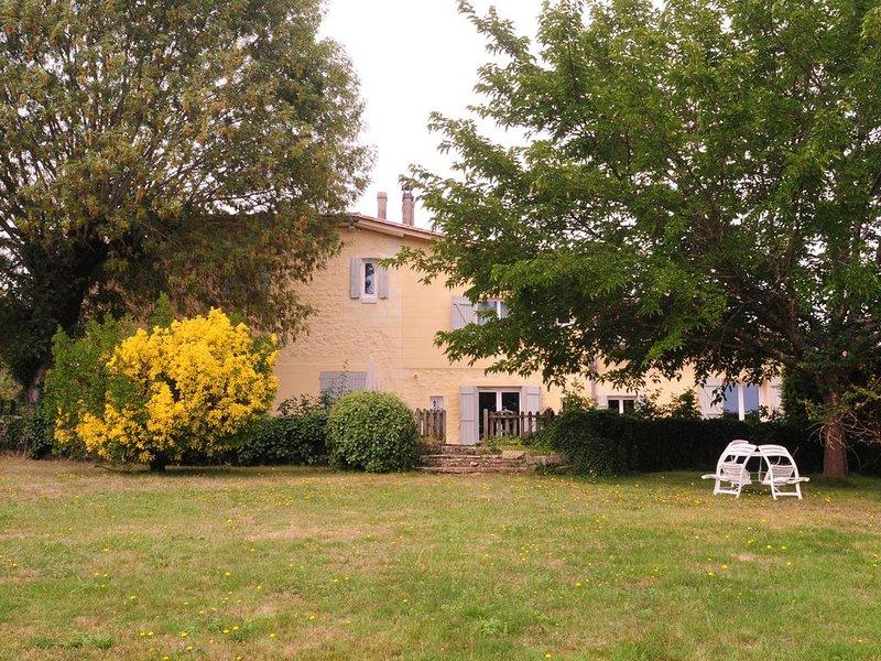 La Métairie près de Bordeaux, location de vacances à Blesignac